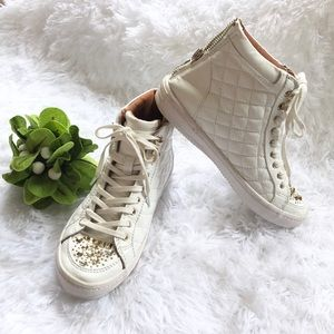 Rebecca Minkoff white leather Sandi high tops